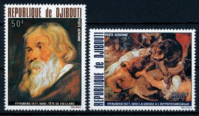 Džibutsko 1978 , ✈ , **/Mi. 216-7 , Rubens , komplet , /L20/