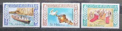 Svatá Helena 1977 Vláda Alžběty II., 25. výročí Mi# 298-300 2022