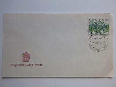 Zn. Magura ŽDIAR razítko III. TATRANSKÝ POHÁR12.3. 1967 ŠTRBSKÉ PLESO