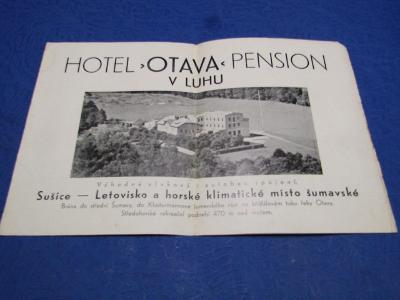 Letáček Hotel - OTAVA-Pension v Luhe