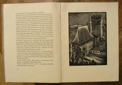 Tábor 1929 - J. Šváb 12 orig. dřevorytů - (K273)