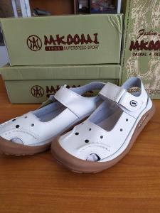 MKOOMI Dámské sandály kožené na suchý zip  Vel. 40