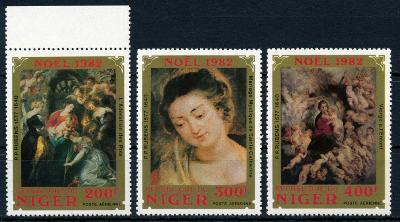 Niger 1982 ✈ , **/Mi. 822-4 , komplet , Rubens , /L21/