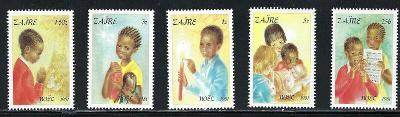 Zair (Kongo) 1981 - komplet, Vánoce a domorodci 4£