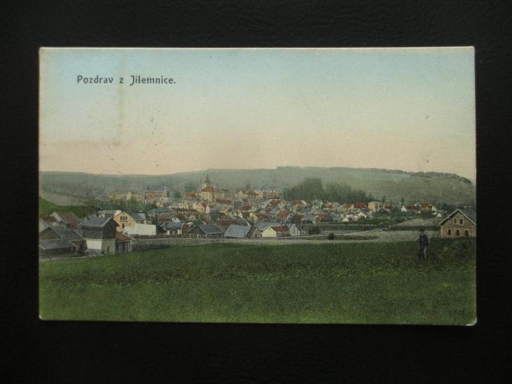 Jilemnice ( celkový pohled ), pr. cca 1910 - Pohlednice