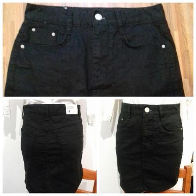 Džínová mini sukně černá XS