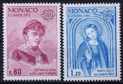Monako 1975 **/ Mi. 1167-8, Evropa CEPT , komplet , /Z1/