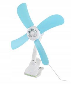 Lopatkový ventilátor na clip stolní větrák 0296