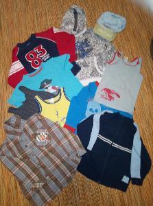 oblečení na kluka 32 ks ,vel.98-104,pěkný stav