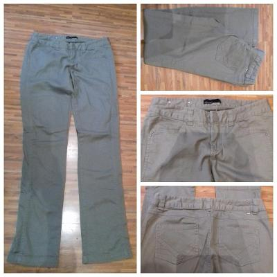 Letní kalhoty béžové/pískové/sv. hnědé Vero moda, vel. 38