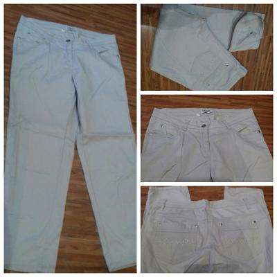 Letní kalhoty béžové/pískové/sv. hnědé Blue flame, vel. 38
