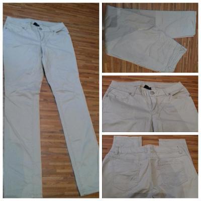 Letní kalhoty béžové/pískové/sv. hnědé Jean Pascale, vel. 38