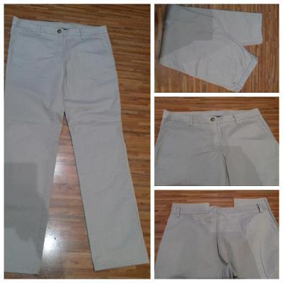 Letní kalhoty béžové/pískové/sv. hnědé Gina Benotti, vel. 38