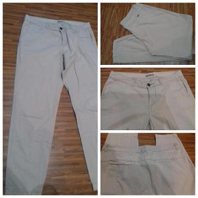 Letní kalhoty béžové/pískové/sv. hnědé ORSAY vel. 38