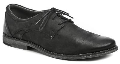 pánské boty kožené Wawel MA328 černá vel.45 Nové