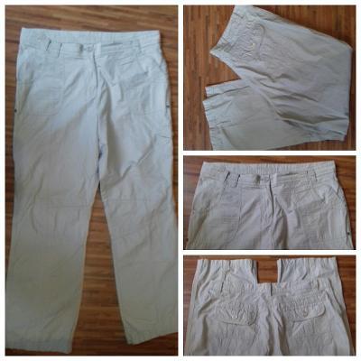Letní kalhoty béžové/pískové/sv. hnědé Bevleys Woman, cca L
