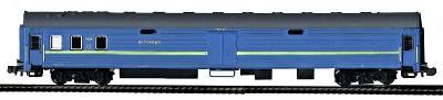 TT-MODEL 2136 Zavazadlový vůz modrý UZ Ukrajina Ep.V / TT 1:120