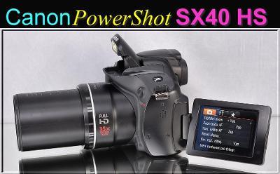 💥 Canon PowerShot SX40 HS **12,1 MPix, 35× Op.Zoom, FULL HDV**TOP👍