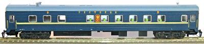 TT-MODEL 2239 Jídelní vůz modrý NIKOLAEVSKY EXPRES RZD Ep.V / TT 1:120