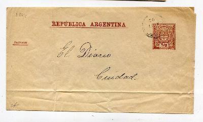 ARGENTINA - RUKÁV NA NOVINY /AR 16-3