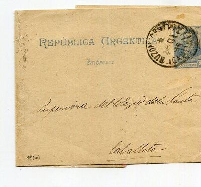 ARGENTINA - RUKÁV NA NOVINY 1896?    /AR 16-8