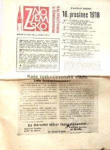 NOVINY - ZNOJEMSKO- 1968 - báseň DUBČEKOVI