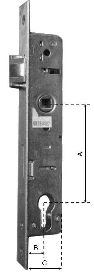 zámek vložkový, hloubka 35 mm, rozteč 90 mm