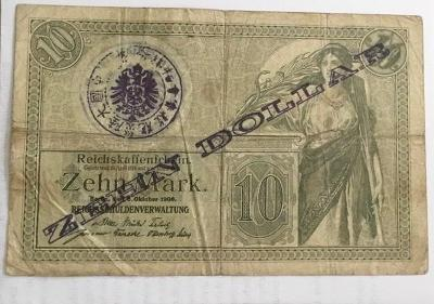 10 dolarů německo-asijská banka Tsingtau, 15.Rosenberg # 1059. RRRR