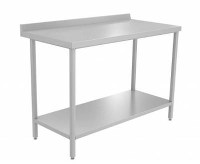 Nerezový stůl s policí 130x60x85cm
