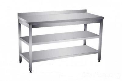 Nerezový stůl 2 police 190x70x85cm