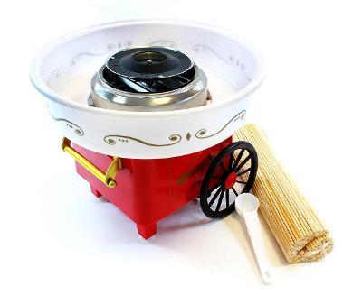 Výrobník cukrové vaty červená + dárek