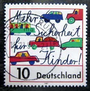 DEUTSCHLAND: MiNr.1954 Traffic Safety for Children 10pf 1997