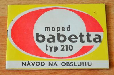MOPED BABETTA TYP 210 - NÁVOD NA OBSLUHU