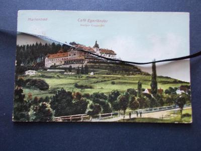 Karlovy Vary Mariánské lázně Marienbad reliefní tlačená Kavárna Cheb