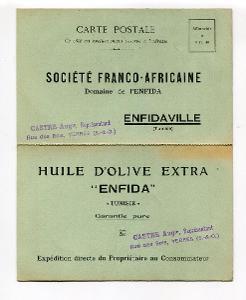 TUNIS - NABÍDKA OLIVOVÉHO OLEJE 1931  /AO - 47
