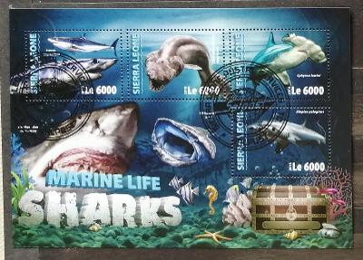 Sierra Leone 2016 - CTO aršík, žraloci, ryby a fauna