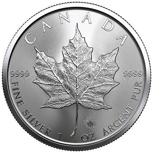 stříbrné mince Maple Leaf 1 oz 999,9/1000 100ks. (4 tuby) - Numismatika