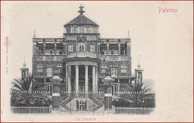Palermo * La Favorita, vila, budova, park, Stengel * Itálie * Z1282