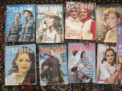 Žena a móda   - soubor celkem 9  ks časopisů ze 70-tých let !!! !!!