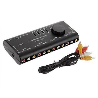 Přepínač, slučovač 4x RCA (cinch) audio video