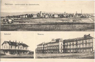 DOBŘANY - ústav - nádraží - kasárny - Plzeň-jih