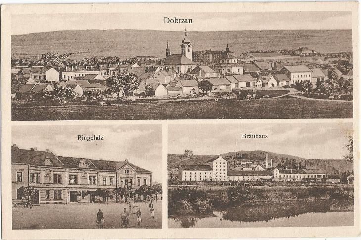 DOBŘANY - náměstí - pivovar - Plzeň-jih - Pohlednice