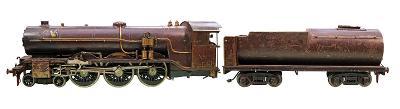 LOKOMOTIVA - funkční parní stroj - délka 110 cm