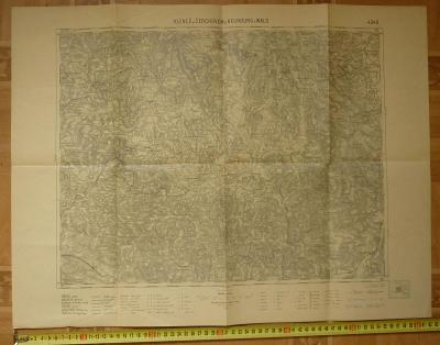 MAPA I. REPUBLIKA  KLENČÍ POD ČERCHOVEM a NEUNBURG ROK 1929