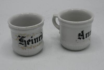Staré párové porcelánové hrnečky 19. stol.