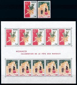 Monako 1981 **/ Mi. 1473-4 + Block 17 , Evropa CEPT , komplet , /Z1/