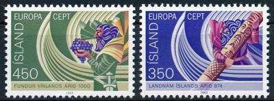 Island 1982 **/ Mi. 578-9 , Evropa CEPT , komplet , /Z1/