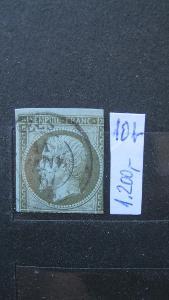 Francie - razítkovaná známka katalogové číslo 10 b