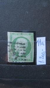 Francie - razítkovaná známka katalogové číslo 11 a