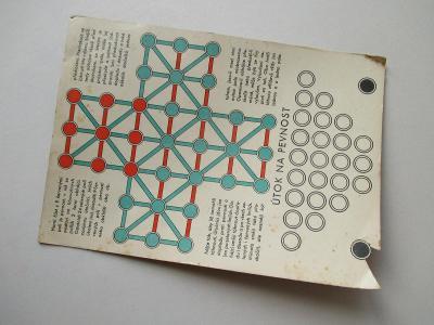 Stará reklamní karta s herním plánem / útok na Pevnost Schicht mýdlo